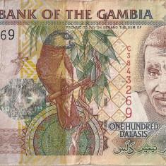 GAMBIA 100 DALASIS ND F - bancnota africa, An: 2011