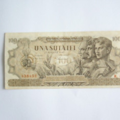 BBR1 - 100 LEI - EMISA LA 27 AUGUST 1947 - Bancnota romaneasca