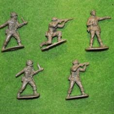 #2 Lot 5 figurine soldati armata, cca 5.5cm, plastic, colectie, verzi, diorama