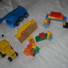 Lego Duplo - Ville - Bob the Builder cu betoniera Dizzy, Scoop si Lofty