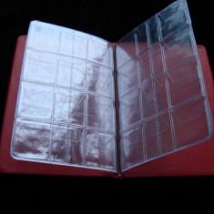 Clasor pentru monede (mix) -8 pagini pentru 68 de monede