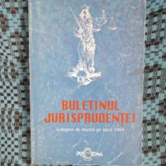 CURTEA SUPREMA DE JUSTITIE - BULETINUL JURISPRUDENTEI. CULEGERE DE DECIZII 1994 - Carte Jurisprudenta