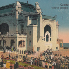 CONSTANTA, VEDEREA GENERALA A CAZINOULUI, CIRCULATA 1923 - Carte Postala Dobrogea 1904-1918, Printata