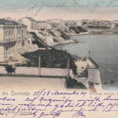 SALUTARI DIN CONSTANTA, PARTEA ESTICA A ORASULUI, CIRCULATA NOV.''904 - Carte Postala Dobrogea pana la 1904, Printata