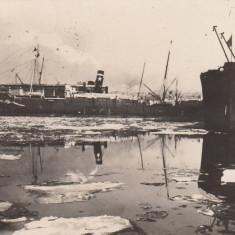 CONSTANTA, VASE BLOCATE DE GHIATA, CIRCULATA MAI ''930 - Carte Postala Dobrogea dupa 1918, Fotografie