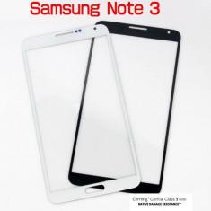 Sticla Ecran Geam Samsung Note3   ALB, sau Negru + ADEZIV PLU GEL UV GRATIS
