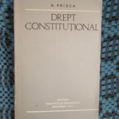 N. PRISCA - DREPT CONSTITUTIONAL (1977, 511 PAGINI - CA NOUA!!!) - Carte Drept constitutional
