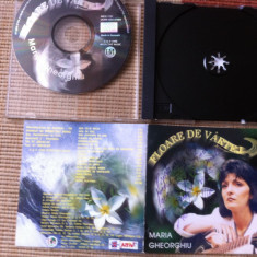 Maria gheorghiu floare de vartej cd disc muzica folk rock intercont music 1998