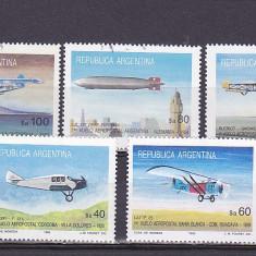 Transport, aviatie, Argentina. - Timbre straine, Nestampilat
