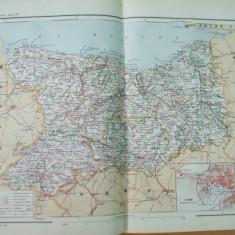Franta Calvados Normandia Caen  1889  harta color