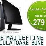 """Calculator Dell Dual Core + Monitor LCD 17"""" Garantie 1 an, PROMOTIE! - Sisteme desktop cu monitor Dell, Intel Pentium Dual Core, Peste 3000 Mhz, 1 GB, 40-99 GB, LGA775"""