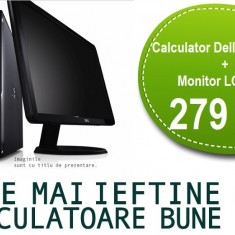 "Calculator Dell Dual Core + Monitor LCD 17"" Garantie 1 an, PROMOTIE!"