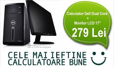"""Calculator Dell Dual Core + Monitor LCD 17"""" Garantie 1 an, PROMOTIE! foto"""