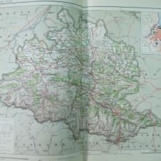 Franta Ariege Foix Languedoc 1888 harta color
