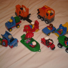 Lego Duplo - 10 vehicule cu figurine oameni - masinute