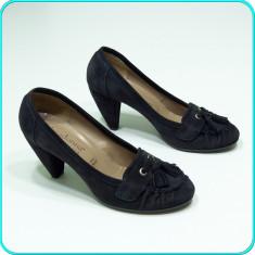 DE CALITATE _ Pantofi dama, piele, comozi, PRIMADONNA _ femei | nr. 39 - Pantof dama, Culoare: Bleumarin, Piele naturala