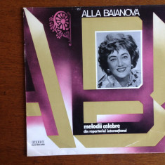 Alla Bianova -vinil- Melodii celebre din repertoriul international - Muzica soundtrack electrecord