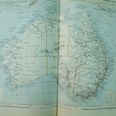 Australia 1888 harta color