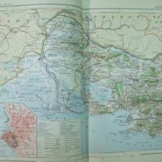 Franta Gurile Ronului Provence Alpi  Marsilia 1888 harta color