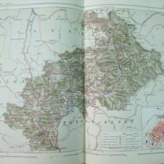 Alpii Inalti Alpes Hautes Provence Gap Franta 1888 harta color