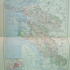 Franta Charente partea inferioara La Rochelle  1890  harta color
