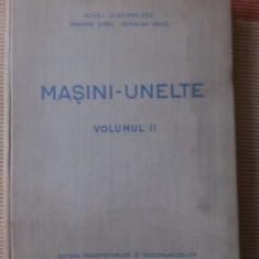 Masini Unelte vol II DIACONESCU SARBU VOICU ED TRANSPORTURILOR carte tehnica