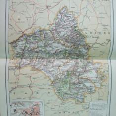 Franta Aveyron Rodez Toulouse Montpellier   1888 harta color