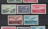 VEDERI POSTA AERIANA 1931 - SERIE NESTAMPILATA FARA SARNIERA, Nestampilat