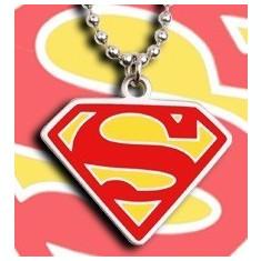 Pandantiv Medalion Superman Original Inox + lant inox/silicon
