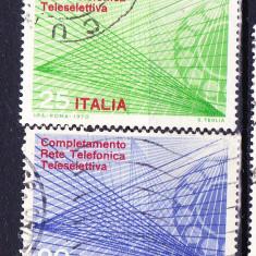 Timbre ITALIA 1970 = FINALIZAREA SISTEMULUI AUTOMAT DE TELEFON - Timbru de Automat