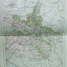 Franta Ardennes Alsacia Lorena Champagne   1888 harta color
