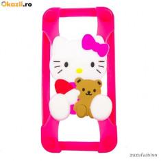 Bumper Iphone 4 4s 5 5s 5c 6 6s hello kitty - Husa Telefon Apple, iPhone 6/6S, Roz