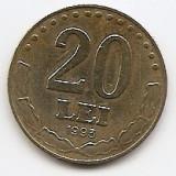Romania 20 Lei 1993 - 24.1 mm, KM-109 (15) - Moneda Romania