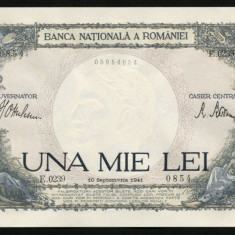 ROMANIA 1000 LEI 10 SEPTEMBRIE 1941 UNC NECIRCULATA - Bancnota romaneasca