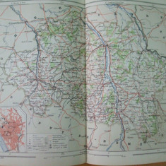 Franta Allier Ron Alpi Moulins  1888  harta color