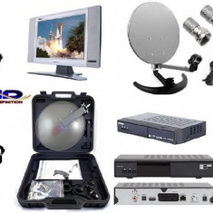 TV SATELIT CAMPING pliabila-TIR-RULOTA-kit cu televizor second 12 v