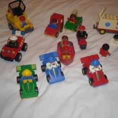 Lego Duplo - 10 vehicule - masinute cu figurine oameni