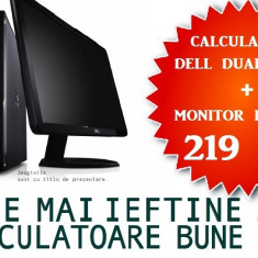 "Calculator Dell Intel Dual Core + Monitor LCD 15""la OFERTA!, Intel Pentium Dual Core, Sub 1 GB, 40-99 GB"