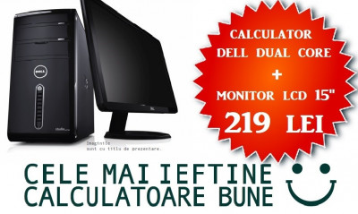 """Calculator Dell Intel Dual Core + Monitor LCD 15""""la OFERTA! foto"""