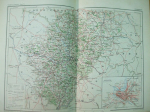 Franta Charente Cognac Angouleme  1890  harta color
