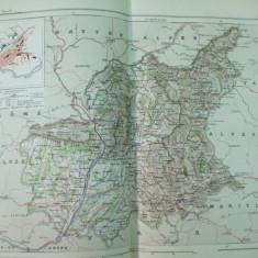 Alpii de Sud Alpes Basses Provence Digne Franta 1888 harta color
