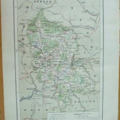 Franta Belfort Lyon Strassbourg  1889 harta color