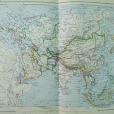 Asia 1888 harta color