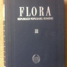Flora Republicii Populare Romane III carte stiinta biologie ilustrata desene - Carte Biologie