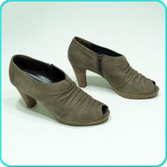 DE FIRMA _ Pantofi decupati, din piele, de calitate, PAUL GREEN _ femei | nr. 39 - Pantof dama Paul Green, Culoare: Bej, Piele naturala