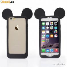 Bumper Iphone 5 5s 6 6s 6 plus mickey mouse - Husa Telefon Apple, Negru, Silicon