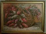 Pictura liliac Mircea Dumitrescu  (1915-1984 ) Lichidare colectie, Flori, Ulei, Realism