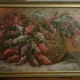 Pictura liliac Mircea Dumitrescu (1915-1984 ) Lichidare colectie - Pictor roman, Flori, Ulei, Realism