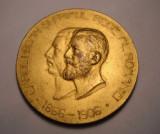 Medalie Regele Carol I Expozitiunea Generala din 1906 Diametru 60 mm Frumoasa