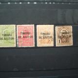 ROMANIA 1915 / 4 VAL STAMPILATE / TIMBRU DE AJUTOR - Timbre Romania